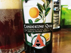 Tangerine Quad, Avery Brewing Co, label close-up