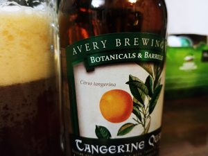 Tangerine Quad, Avery Brewing Co, label accent