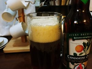 Tangerine Quad, Avery Brewing Co, beer head