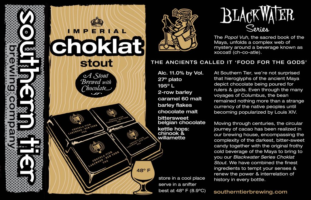 Choklat Stout Label