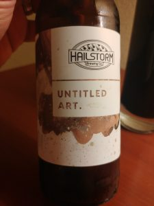 Waffle Stout, Untitled Art + Hailstorm Brewing Co.