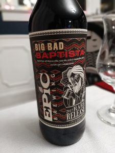 Big Bad Baptista 2017 Rare Release, Epic Brewing, Label
