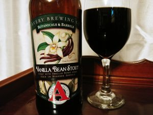 Vanilla Bean Stout Avery Brewing Co, label front lighted