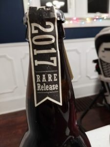 Big Bad Baptista 2017 Rare Release, Epic Brewing, Cap Label